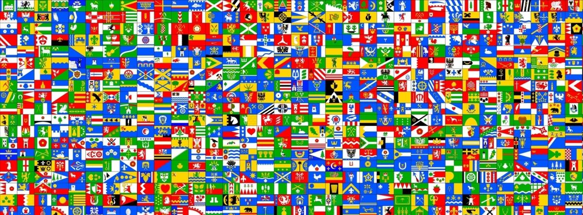A sampling of Czech municipal flags from http://vexi.info